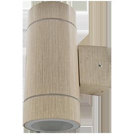 Ecola GX53 LED 8013A светильник накладной IP65 прозрачный Цилиндр металл. 2*GX53 Светлое дерево 205x140x90 1