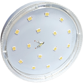 T5SV85ELC Ecola GX53   LED  8,5W Tablet 220V 4200K прозрачное стекло (композит) 27x75 1