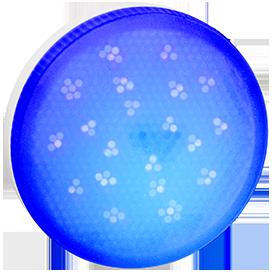 T5TB80ELC Ecola GX53   LED color  8,0W Tablet 220V Blue Синий матовое стекло (композит) 28x74 1