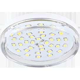 T5TV80ELC Ecola Light GX53 LED  8,0W Tablet 220V 4200K 27x75 прозрачное стекло 30000h 1