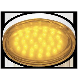 T5TY44ELC Ecola GX53   LED color  4,4W Tablet 220V Yellow Желтый (насыщенный цвет) прозрачное стекло 27x74 1