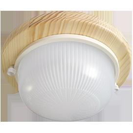 Ecola GX53 LED НБО-03-60-011 светильник Круг накладной IP65 дерево Клен 1*GX53 матовый 220х84 1