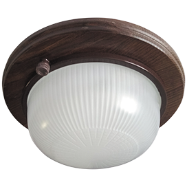 Ecola GX53 LED НБО-03-60-021 светильник Круг накладной IP65 дерево Орех 1*GX53 матовый 220х84