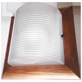 Ecola GX53 LED НББ-04-60-022 светильник Квадрат накладной IP65 дерево Орех 2*GX53  245х245х110 1