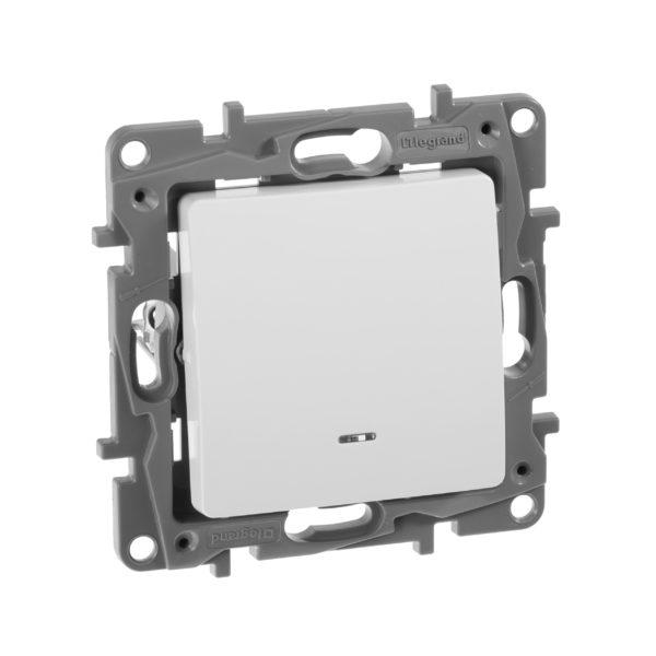 Выключатель с подсветкой - Etika - 10 AX - 250 В~ - белый 1