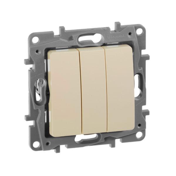 Выключатель/переключатель двухклавишный - Etika Plus - 10 AX - 250 В~ - слоновая кость 1