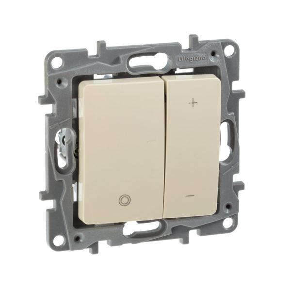 Светорегулятор нажимной - Etika - 400 Вт - слоновая кость 1