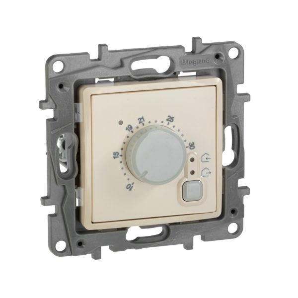 Термостат с внешним датчиком для теплых полов - Etika - слоновая кость 1