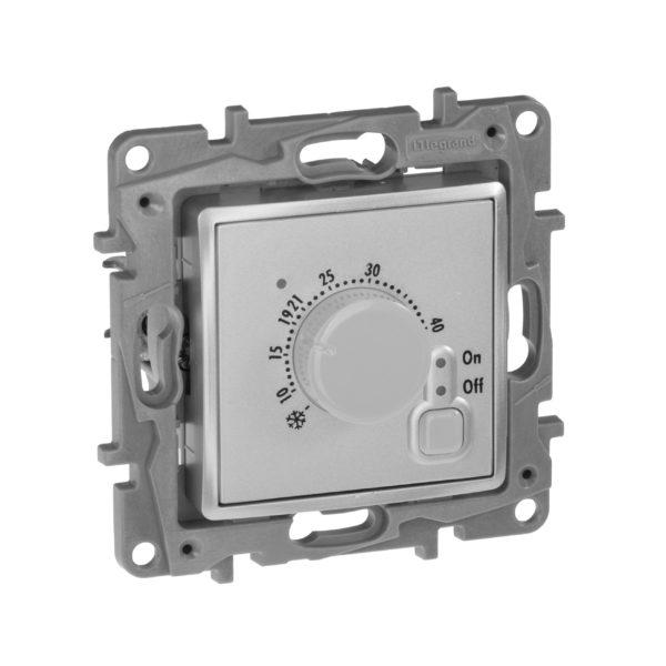 Термостат с внешним датчиком для теплых полов - Etika - алюминий 1