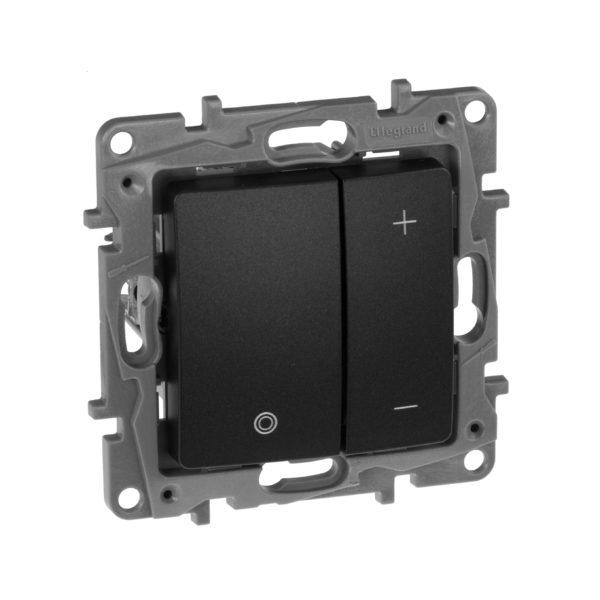 Светорегулятор нажимной - Etika - 400 Вт - антрацит 1