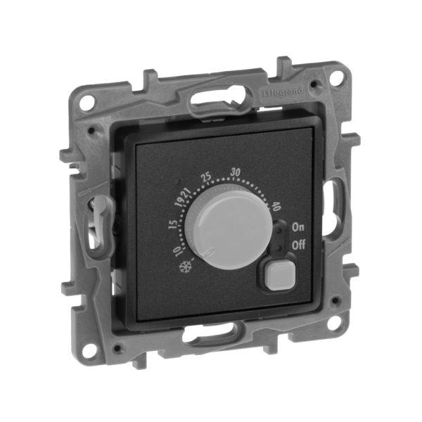 Термостат с внешним датчиком для теплых полов - Etika - антрацит 1